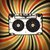 grunge music background audio cassette illustration on rays stock photo © pashabo
