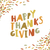 happy thanksgiving card design paper cut letters and fallen lea stock photo © pashabo