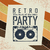 retro party advertising flyer with old audiocassette old fashio stock photo © pashabo