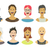 people avatars collection stock photo © pashabo