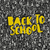 back to school poster design with seamless letters pattern backg stock photo © pashabo