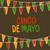 cinco de mayo postcard holiday pennant bunting hand drawn vect stock photo © pashabo