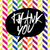 thank you message lettering on colorful chevron pattern in bla stock photo © pashabo