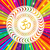 om symbol on colorful rays psychedelic background stock photo © pashabo