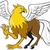 hippogriff prancing isolated cartoon stock photo © patrimonio