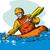 illustratie · kajak · sport · zee · reizen · rivier - stockfoto © patrimonio