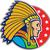 nativo · jefe · guerrero · lado · ilustración - foto stock © patrimonio