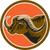 african buffalo head side circle retro stock photo © patrimonio