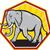 elefante · metade · molhado · pôr · do · sol · luz · África - foto stock © patrimonio