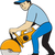 pracownik · budowlany · stałego · widział · pracownika · kask · okulary · ochronne - zdjęcia stock © patrimonio