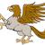 hippogriff prancing side isolated cartoon stock photo © patrimonio