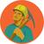 coal miner pick axe circle watercolor stock photo © patrimonio