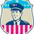 american airline pilot aviator usa flag shield retro stock photo © patrimonio