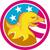 american bald eagle usa flag circle retro stock photo © patrimonio