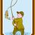 漁師 · フライ · 釣り · 立って · 水 - ストックフォト © patrimonio