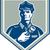 polis · güvenlik · görevlisi · el · feneri · Retro · örnek · polis · memuru - stok fotoğraf © patrimonio