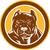 pitbull dog mongrel head circle woodcut stock photo © patrimonio