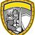 knight full armor open visor sword shield crest retro stock photo © patrimonio