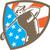 american golfer tee off golf shield woodcut stock photo © patrimonio