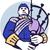 scotsman bagpiper player circle retro stock photo © patrimonio