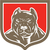 pitbull dog mongrel head shield woodcut stock photo © patrimonio