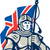 knight british flag retro stock photo © patrimonio