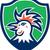 cockerel rooster head shield retro stock photo © patrimonio
