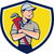 plumber arms crossed crest cartoon stock photo © patrimonio