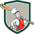 chef cook marching spoon shield cartoon stock photo © patrimonio