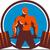 súlyemelő · gyümölcsök · ikon · egészséges · izmos · testépítő - stock fotó © patrimonio
