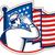 солдата · американский · флаг · вид · сзади · небе · человек · стране - Сток-фото © patrimonio