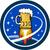 beer mug rocket ship space circle retro stock photo © patrimonio
