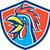cockerel rooster crowing head shield stock photo © patrimonio