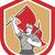 coal miner hardhat pick axe flag shield stock photo © patrimonio