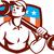 mechanic spanner wrench usa flag retro stock photo © patrimonio