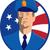 amerikan · polis · yakışıklı · olgun · üniforma · amerikan · bayrağı - stok fotoğraf © patrimonio