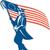 американский · солдата · иллюстрация · американский · флаг · ретро-стиле - Сток-фото © patrimonio