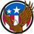 bald eagle spread wings usa flag circle retro stock photo © patrimonio