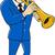 jogar · trombeta · jogador · branco · música · fundo - foto stock © patrimonio