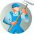 художника · краской · работник · дома · ретро · иллюстрация - Сток-фото © patrimonio