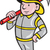 fireman firefighter emergency worker stock photo © patrimonio