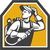 welder holding welding torch woodcut retro stock photo © patrimonio