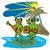 béka · zene · zöld · állat · környezet · illusztráció - stock fotó © patrimonio