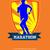 marathon runner starting run retro poster stock photo © patrimonio