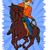 cowboy · paardrijden · paard · illustratie · cactus - stockfoto © patrimonio
