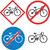 fiets · verkeersbord · witte · weg · teken · kleur - stockfoto © patrimonio