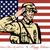 feliz · día · tarjeta · de · felicitación · soldado · anunciante - foto stock © patrimonio