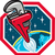 pipe wrench rocket booster blasting space hexagon retro stock photo © patrimonio