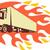 recipiente · caminhão · chamas · retro · ilustração · caminhão - foto stock © patrimonio