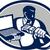コンピュータ · 技術者 · ケーブル · ノートパソコン · レトロな - ストックフォト © patrimonio